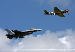 F-16 & P-51 Formation