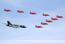 Red Arrows & Vulcan XH558 Flyby