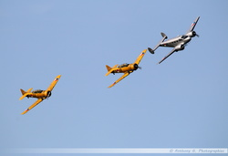 Beech 18 + 2x T-6  Harvard RNLAF Historic Flight Formation