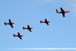Fouga & Red Devils Formation